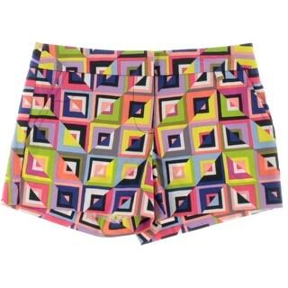 Trina Turk Womens Flat Front Printed Casual Shorts
