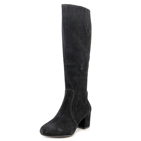 06a7671c321 Shop Steve Madden Haydun Women Round Toe Suede Black Knee High Boot ...