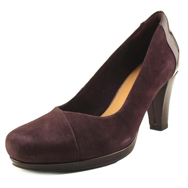 Clarks Artisan Chorus Carol Women Round Toe Synthetic Purple Heels