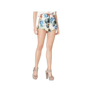 Minkpink Womens Casual Shorts Printed High Waist
