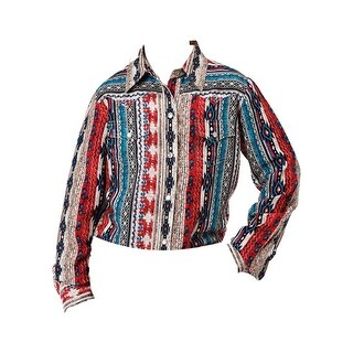 Roper Western Shirt Girls L/S Aztec Stripe Multi
