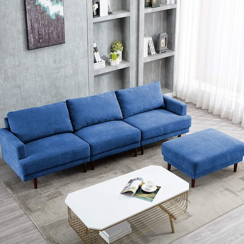 Sectional Couch Sofa 3-Seat Modular Couch Set - 104.6'' x 31'' x 33''