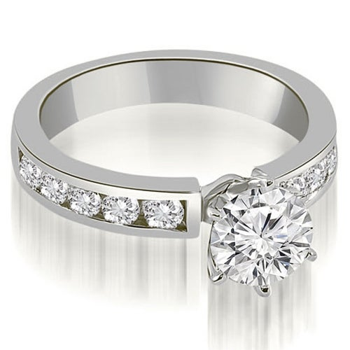 1.80 cttw. 14K White Gold Classic Channel Round Cut Diamond Engagement Ring