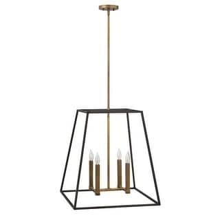 """Hinkley Lighting 3336 4 Light 24.5"""" Height Indoor Lantern Pendant from the Fulton Collection"""