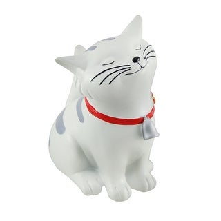 Happy White Cat Little Kitten Coin Bank