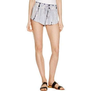 Bella Dahl Womens Casual Shorts Chambray Tie-Dye
