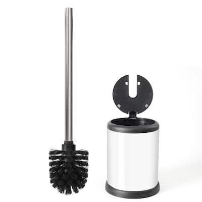 ToiletTree Products Deluxe Toilet Brush with Lid, White - 11.2 x 4.8 x 4.8