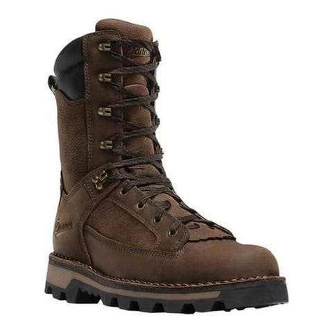 "Danner Men's Powderhorn 10"" 1000G Mid Calf Boot Brown Full Grain Leather"