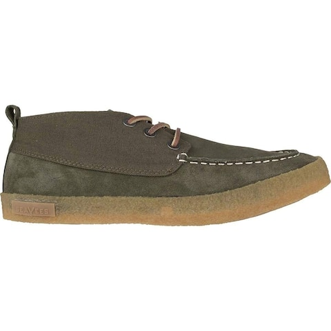 SeaVees Mens bayside Moc Canvas Low Top Lace Up Fashion Sneakers - 9