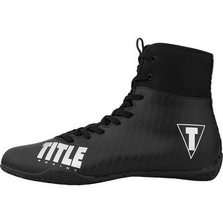 Title Boxing Predator II Lightweight Mid-Length Boxing Shoes - Black/Black