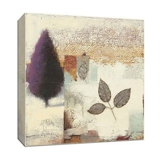 "PTM Images 9-153420  PTM Canvas Collection 12"" x 12"" - ""Silver Leaf II"" Giclee Leaves Art Print on Canvas"