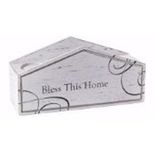 13 x 4.5 x 6.25 in. Bless This Home Candle Holder for Pillar Candle