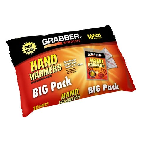 Grabber HWPP10 Air-Activated Hand Warmer Big Pack, 7+ Hours, 10-Pair