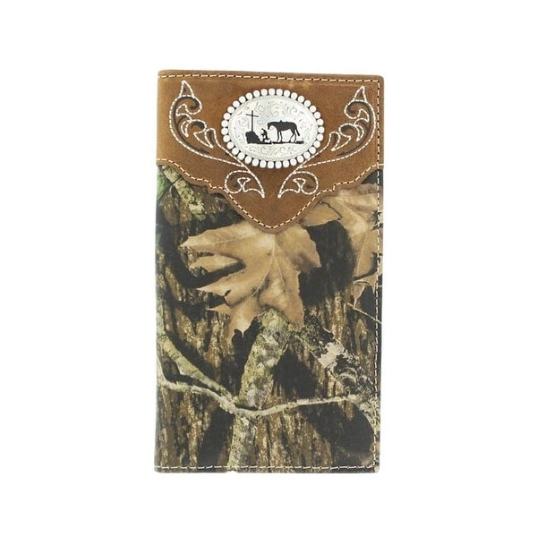 Nocona Western Wallet Mens Rodeo Cowboy Prayer Camo Brown - One size