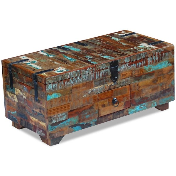 Stationery & Office Supplies vidaXL Reclaimed Solid Wood Storage Box Coffee Table Vintage Antique-style Handmade