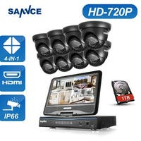 SANNCE 8CH 720P HD Video Surveillance Cameras System with Monitor