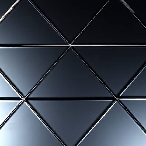"""Miseno MT-WHSREMTRI-GR Reflections - 7"""" x 7"""" Triangle Wall Tile - Matte Visual - Blue Gray"""