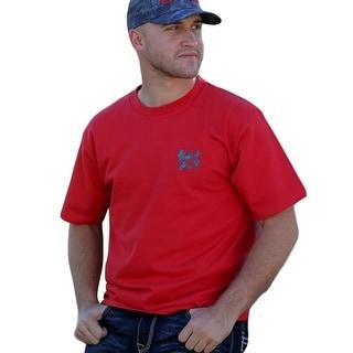 Cinch Western Shirt Mens Short Sleeve Tee Graphic Crew Red MTT1690260