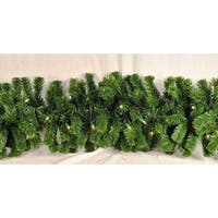 Christmas at Winterland WL-GARSQ-09-ICL 9 Foot Pre-Lit Incandescent Clear Sequoia Garland