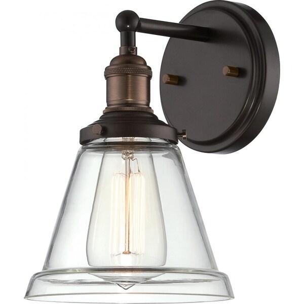 """Nuvo Lighting 60/5512 Vintage 6.5"""" Width 1 Light Bathroom Sconce in Rustic Bronze - Rustic Bronze"""