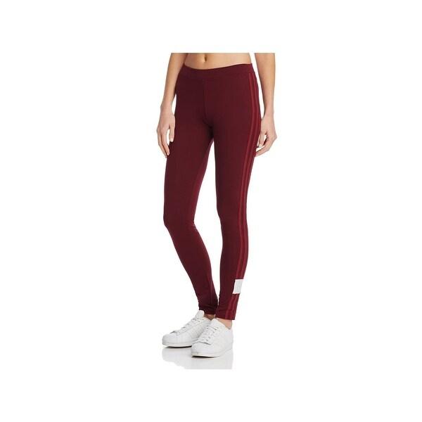 67644432b56c6a adidas Originals Womens AdiBreak Athletic Leggings Logo Mid Rise - XS