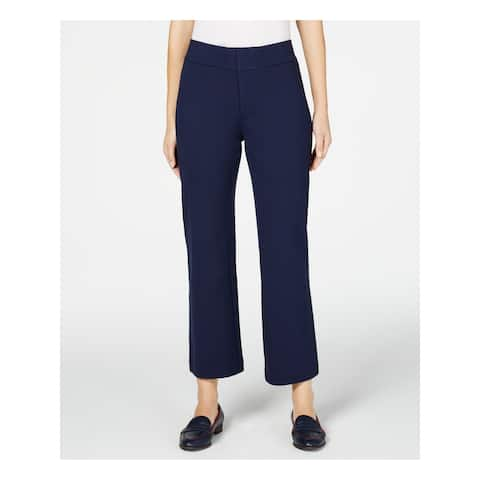 CHARTER CLUB Womens Blue Solid Boot Cut Pants Size 10