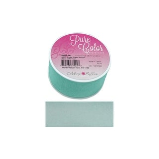 """Morex Ribbon Sugar Sheer 1.5""""x 4yd Aqua"""