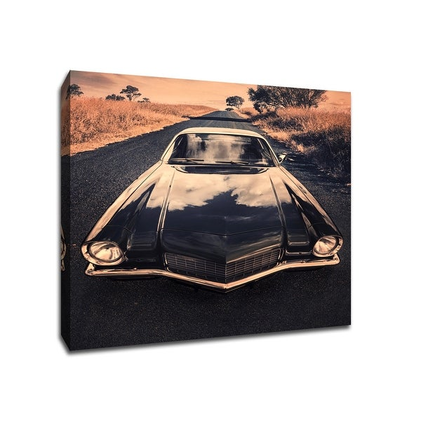 Countryside Road - Cars Collection - 13x13 Gallery Wrapped Canvas Wall Art