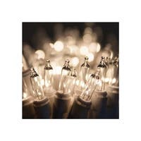 """Wintergreen Lighting 15181 13.3' Long Indoor Standard 35 Mini Light Holiday Light Strand with 4"""" Spacing and White Wire"""