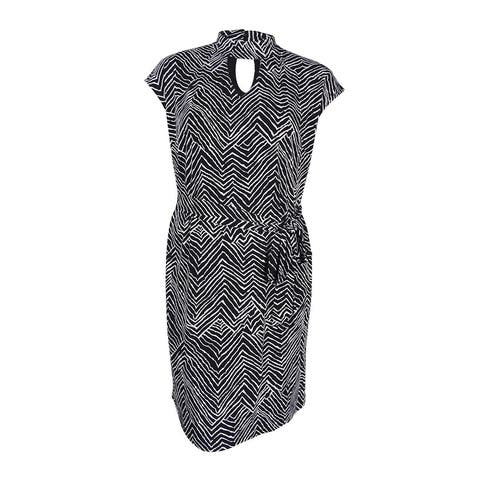 bc0c4566d917 INC International Concepts Women's Plus Size Chevron-Print Shift Dress -  Zig Zag