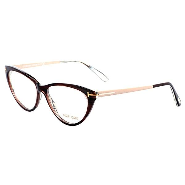 4a959c15ab Shop Tom Ford TF5354 050 Havana Beige Women s Cat Eye Eyeglasses ...