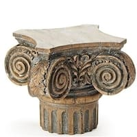 """7.75"""" Brown Weathered Roman Style Pedestal Display Stand"""