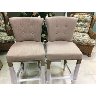 Rafa Grey Upholstered 30-inch Barstool by Kosas Home