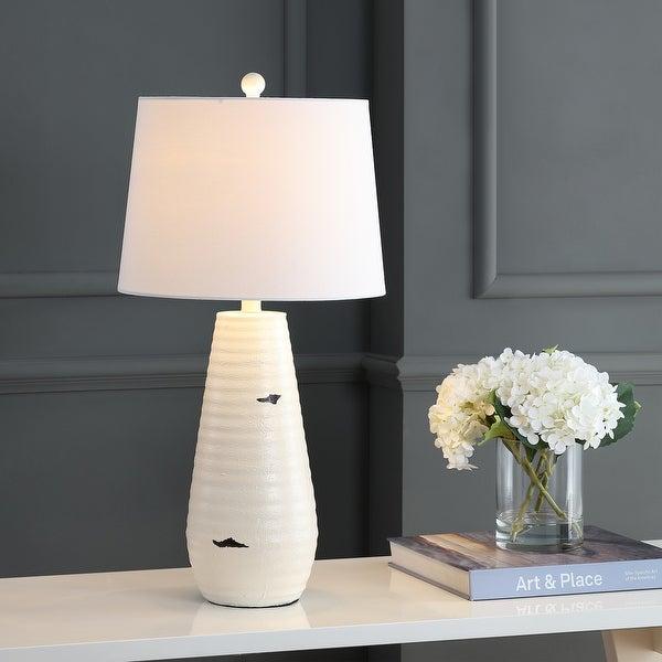 """Safavieh Lighting 27"""" Kamren LED Table Lamp (Set of 2) - 14""""x14""""x27"""". Opens flyout."""
