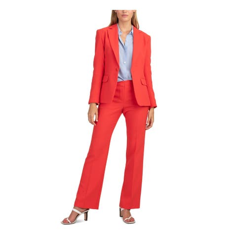 TRINA TURK Womens Red Button Blazer Jacket Size 10