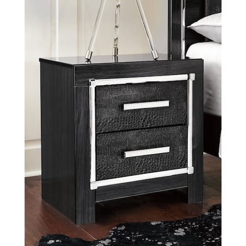 Kaydell Black Two Drawer Nightstand