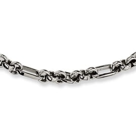 Chisel Stainless Steel Fancy Link Necklace 18 Inches (7 mm) - 18 in