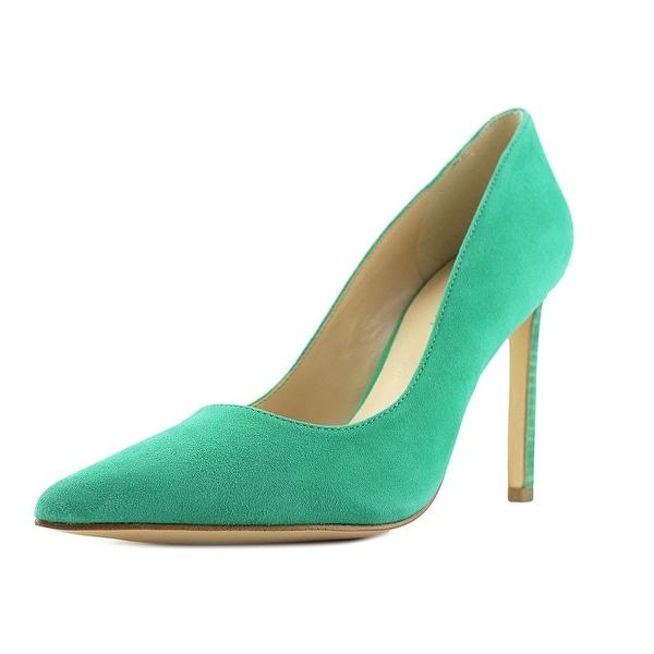 Nine West Tatiana Pointed Toe Leather Heels