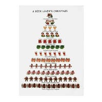"12 Days Of Christmas Bar Dish Towels - Beer - 18"" x 26"""