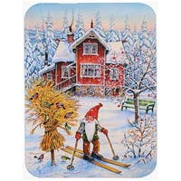 Christmas Gnome Skiing Mouse Pad, Hot Pad or Trivet