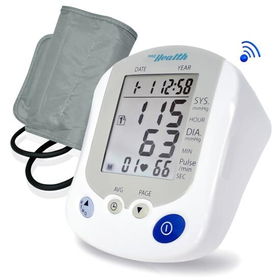 Bluetooth Blood Pressure Monitor with Downloadable Health Tracking App