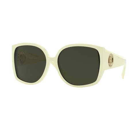 Burberry BE4290 381582 61 Light Green Woman Square Sunglasses