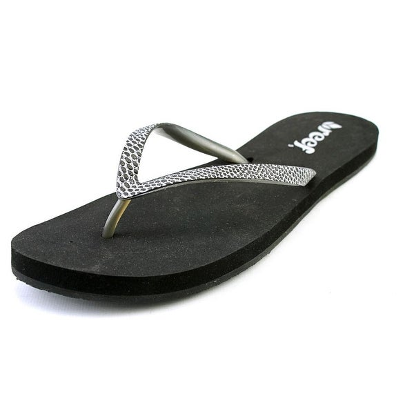 Reef Stargazer Sassy Women Open Toe Synthetic Black Flip Flop Sandal