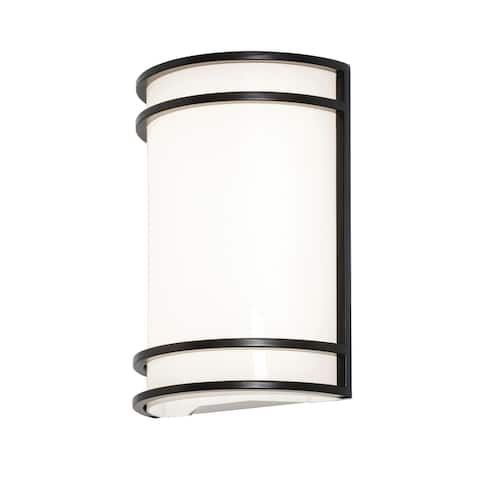 Ventura 1-light ADA Oil-Rubbed Bronze LED Wall Sconce, White Acrylic Shade