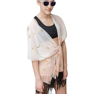 Women Butterfly Poncho with Fringe