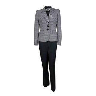 Le Suit Women's Cozumel Patterned Pant Suit