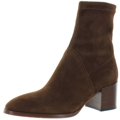 Aquatalia Womens Tia Ankle Boots Suede Stacked