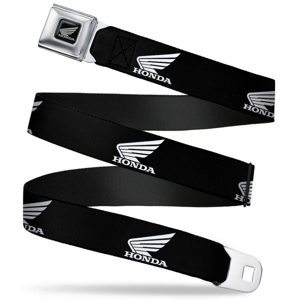 Honda Motorcycle Black Silver Honda Motorcycle Logo Black White Seatbelt Seatbelt Belt