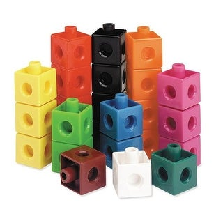 Learning Resources LER7584BN Snap Cubes - Set of 100 - 2 Each