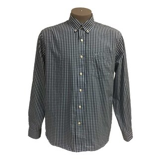 Dockers Men's No Wrinkle Long Sleeve Button-Down Collar Shirt Cerulean Large